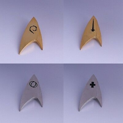Star Trek Discovery Badges Command Operations Division Starfleet Pin Set of 4