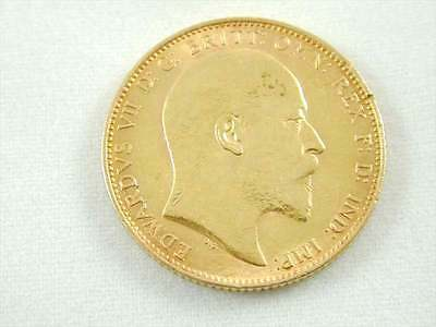 Gold Full Sovereign Edward Vii Antique Minted 1904 Melbourne