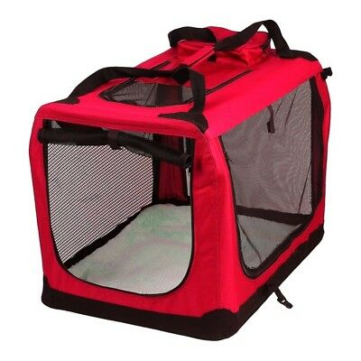 AVC Fabric Pet Carrier Red Folding Dog Cat Puppy Travel Transport Bag (Large)