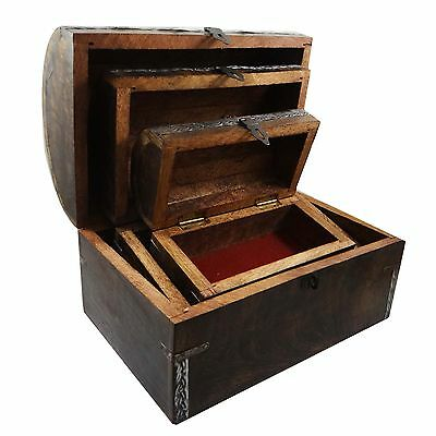 Indian Jewelry Box Hand Crafted Traditional Wooden Box Ethnic Home Decor Art