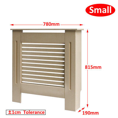 Small Natural Unpainted Radiator Cover Wall Cabinet MDF Traditional Modern UK
