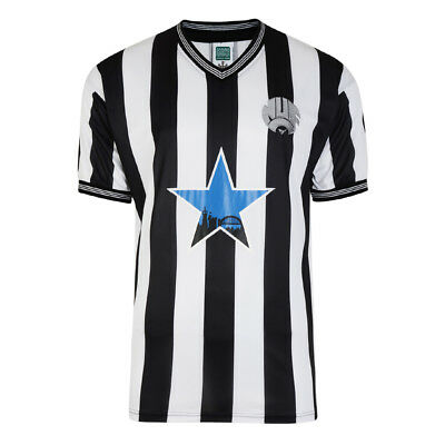 Official Retro Newcastle United 1984 Retro Football Shirt 100% POLYESTER