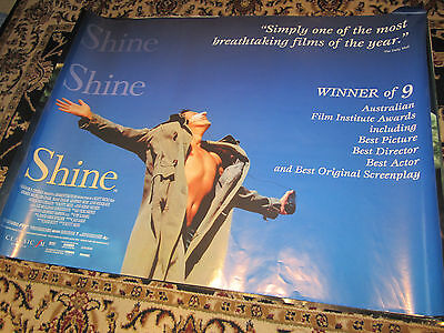 SHINE  - 1998 - Original (Double Sided) UK Quad Poster  (Geoffrey Rush)