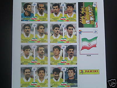 Panini WC France 1998 98 Iran set