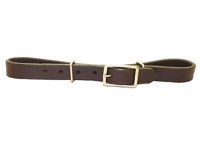 Western Chin Strap Curb Strap Single Red-Brown