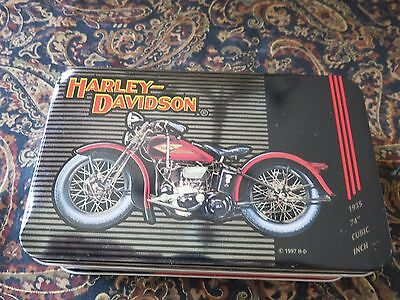 Harley Davidson Historical Playing Cards In Tin 1903 - 1950