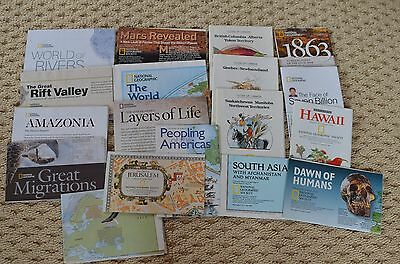 Lot 18 National Geographic map~Canada~Whale~Hawaii~Migration~Mars~Rift Valley ++