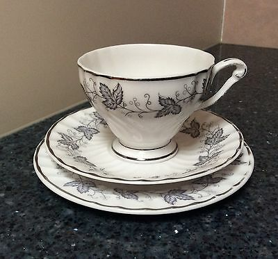 Queen Anne Ailsa Cup, Saucer and side Plate Trio Made in England