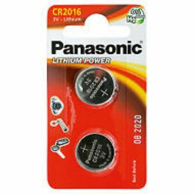 New 2 x Panasonic CR2016 3V Lithium Coin Cell Battery 2016