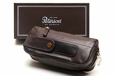 Peterson Deluxe Leather 2 Pipe Combo Pouch