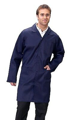 Navy Lab Coat,Warehouse,Doctor,Store, Factorty,Engineer,Bit colour off from side