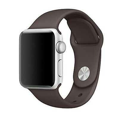 Apple Watch Band Replacement Series 3 Sport Edition Soft Silicone 42MM M/L Cocoa
