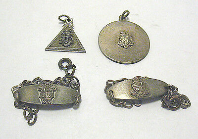 Antique Alpha Theta Pi Sterling Silver Jewelry Lot Of 4 Pieces 19 Grams