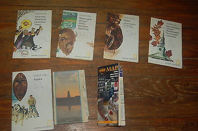 Lot of 5 Vintage National Geographic Peoples Maps 1973-75 & 2 Others