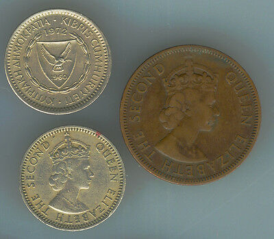 3 coins from Cyprus