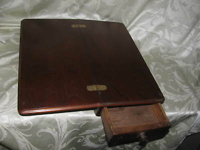Antique Portable writing lap desk secretary with drawer vintage