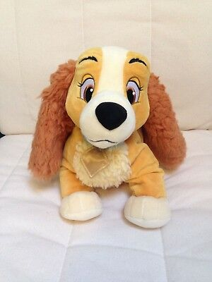 Disney Store Exclusive Lady And The Tramp Lady approx 12 inch Plush Soft Toy