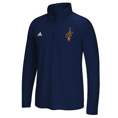Adults XLarge Cleveland Cavaliers adidas Climalite 1/4 Zip Top H656