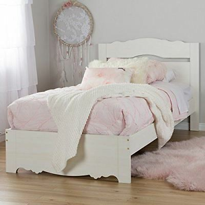 South Shore Furniture Lily Rose Twin Bed Set (39-Inches), White Wash