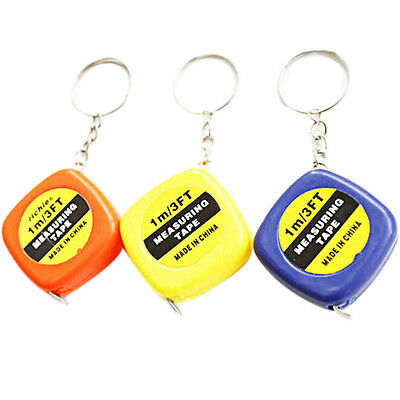 1pcs Easy Retractable Ruler Tape  Measure mini Portable Pull Ruler Keychain *