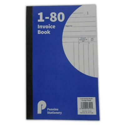 Invoice Duplicate Receipt Book Numbered Cash 1 - 80 Pages Pad Carbon A5 Size