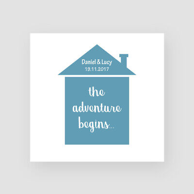 Good luck in new home card 12.5x12.5cm CHSH1 Personalised New Home Card