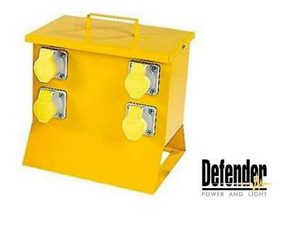 Defender Distribution Unit Splitter Box with Fitted MCB 4-Way 16amp 110v E13115