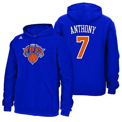 Adults XLarge New York Knicks adidas Name & Number Hoodie - Carmelo Anthony H680