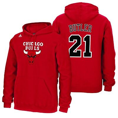 Adults XLarge Chicago Bulls adidas Name & Number Hoodie - Jimmy Butler H648