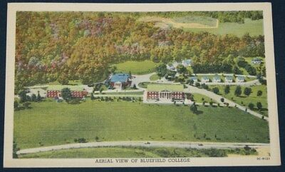 Aerial View Bluefield College, Bluefield, VA Postcard