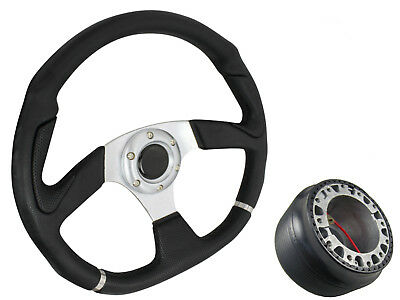 SILVER D1 STEERING WHEEL with boss kit for TOYOTA YARIS