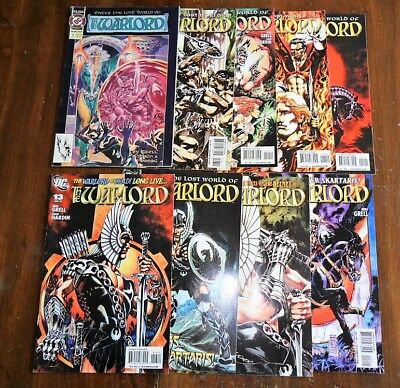 The Warlord Lot of 9 Comic Book - Issues 2, 8, 10-16 DC Comics 2010