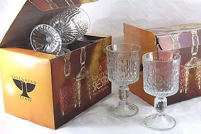 ONE box of 6 medium Ravenhead 'Siesta' wine Glasses.15cl (TWO BOXES AVAILABLE)