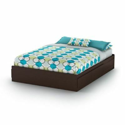 South Shore Furniture Vito Collection,60-Inch Queen Mates Bed, Chocolate