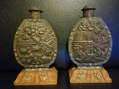 Pair of Very Beautiful and Large Chinese Snuff Bottles.