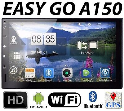 """EasyGo A150 Reproductor MULTIMEDIA Coche 2 DIN HD 7"""" 4-Core ANDROID 4.4 GPS WiFi"""