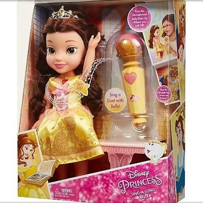NEW Disney Princess Sing-A-Long Belle Beauty And The Beast Doll  Dress Lights Up