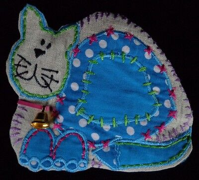 Blue Cat Coin Purse Zippered ~ FREE SHIPPING