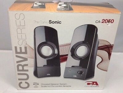 Cyber Acoustics CA-2050 Curve Sonic 2.0 Speaker System - 3 W RMS - Computers