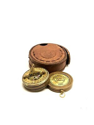 Brass Push Button Pocket Compass Maritime Compass T. COOKE LONDON