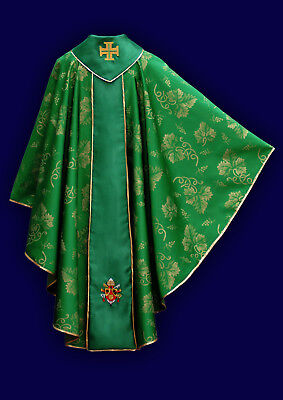 Casula con stemma Papa Ratzinger Pope Chasuble coat of arm Consistory Messgewand