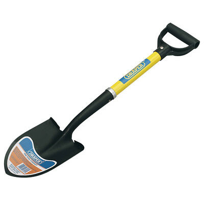 Draper 57569 Round Point Mini Digging Work Shovel With Fibreglass Shaft New