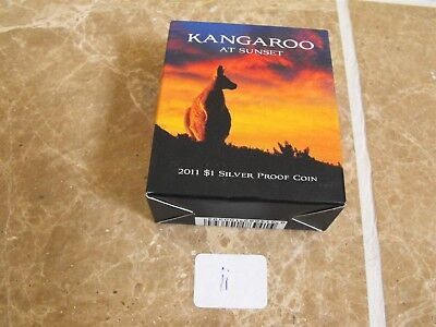 Australia Kangaroo at Sunset Dollar 2011 Silver in Original Case with COA - ii