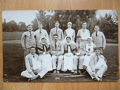 1917 Ww1 Wounded Soldiers & Nurses  St Albans  Hertfordshire Photographer