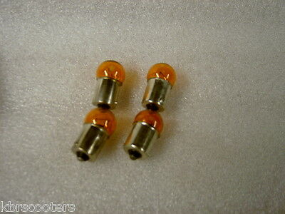 Motorcycle Or Scooter  Amber Bulbs12 Volt 10 Watt Pack Of 4