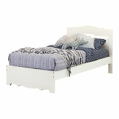 """South Shore Furniture 10301 Caravell Twin Bed Set (39""""), White Wash"""