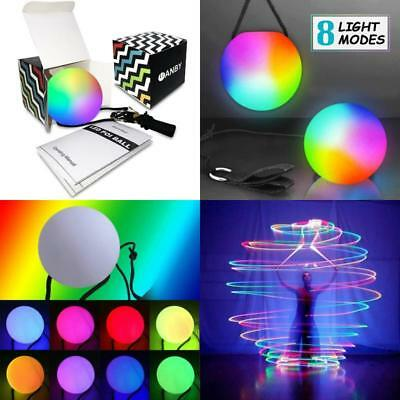 Pair Of LED Poi Dance Flow Art Prop 8 Colors Bright Glow Slow Fade Light