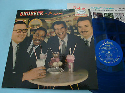 Dave Brubeck A La Mode LP NM 8047 1962 Blue Vinyl featuring Bill Smith