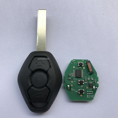 New 3 Button CAS2 Remote Key For BMW 1 3 5 6 Series E60 E90 E83 E93 Pcf7941 HU92