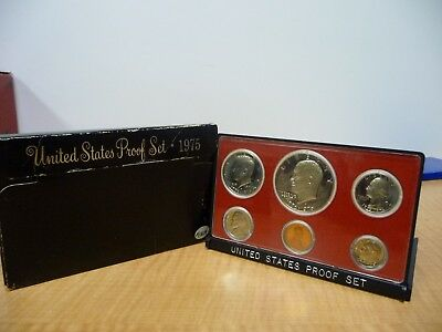1975 United States Proof Set Coin Collection U.S Mint
